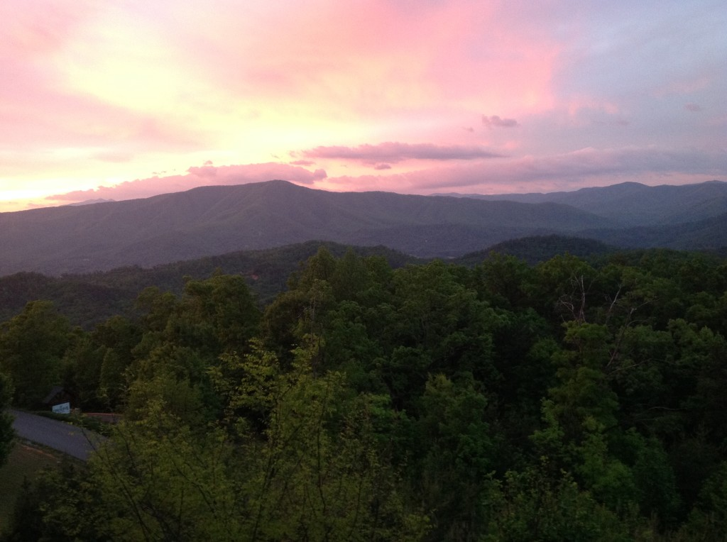 View from our cabin in Pigeon Forge where we celebrated my parents 60th wedding anniversary.