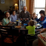 Lynn sharing lunch with his sister Candace while her family was visiting in TN.